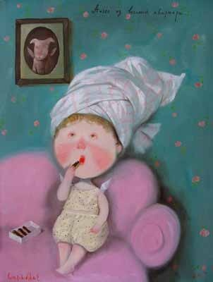 Киевская художница Евгения Гапчинская (167 работ)