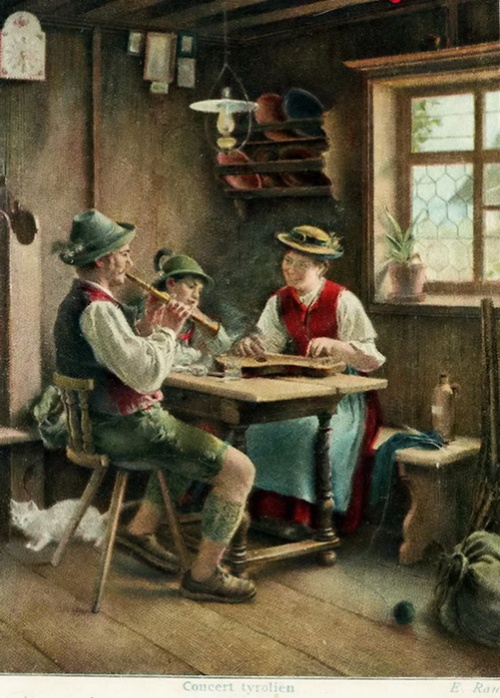 Немецкий художник Emil Rau (1858-1937) (45 работ)
