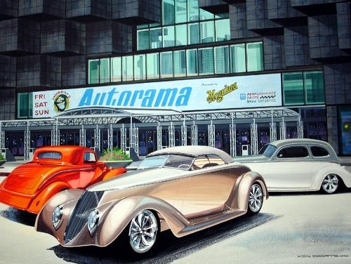 Автомобили в картинках - Ken Eberts (189 работ)