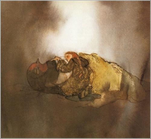 """Сказка """"Дюймовочка"""" иллюстратора Lisbeth Zwerger (11 работ)"""