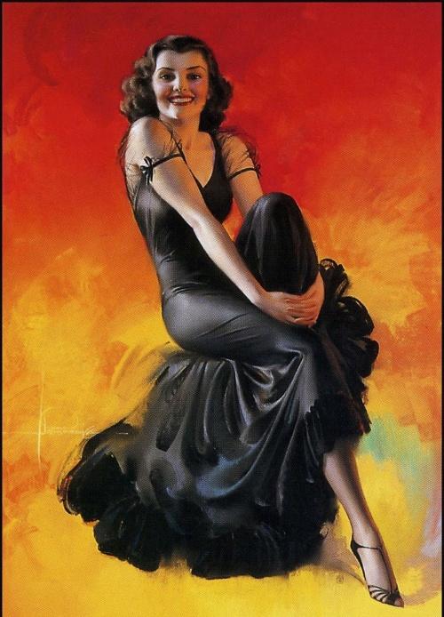 Американские девушки Рольфа Армстронга (Rolf Armstrong) (86 работ)