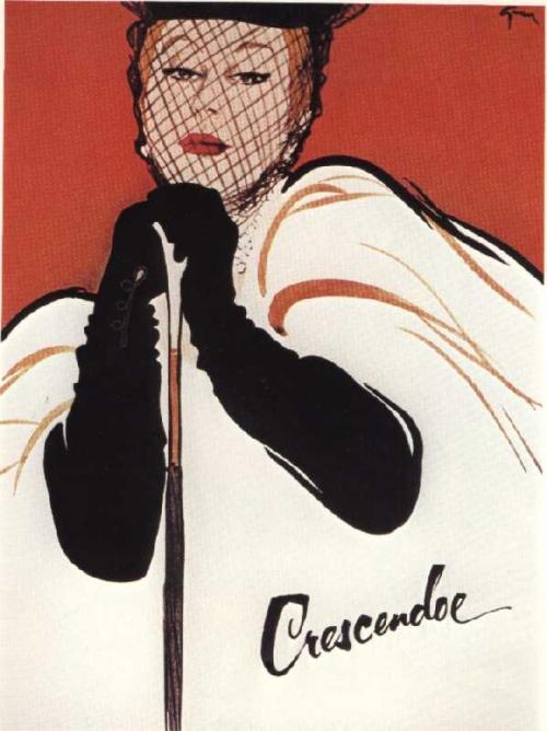 Иллюстратор высокой моды Rene Gruau (453 работ)
