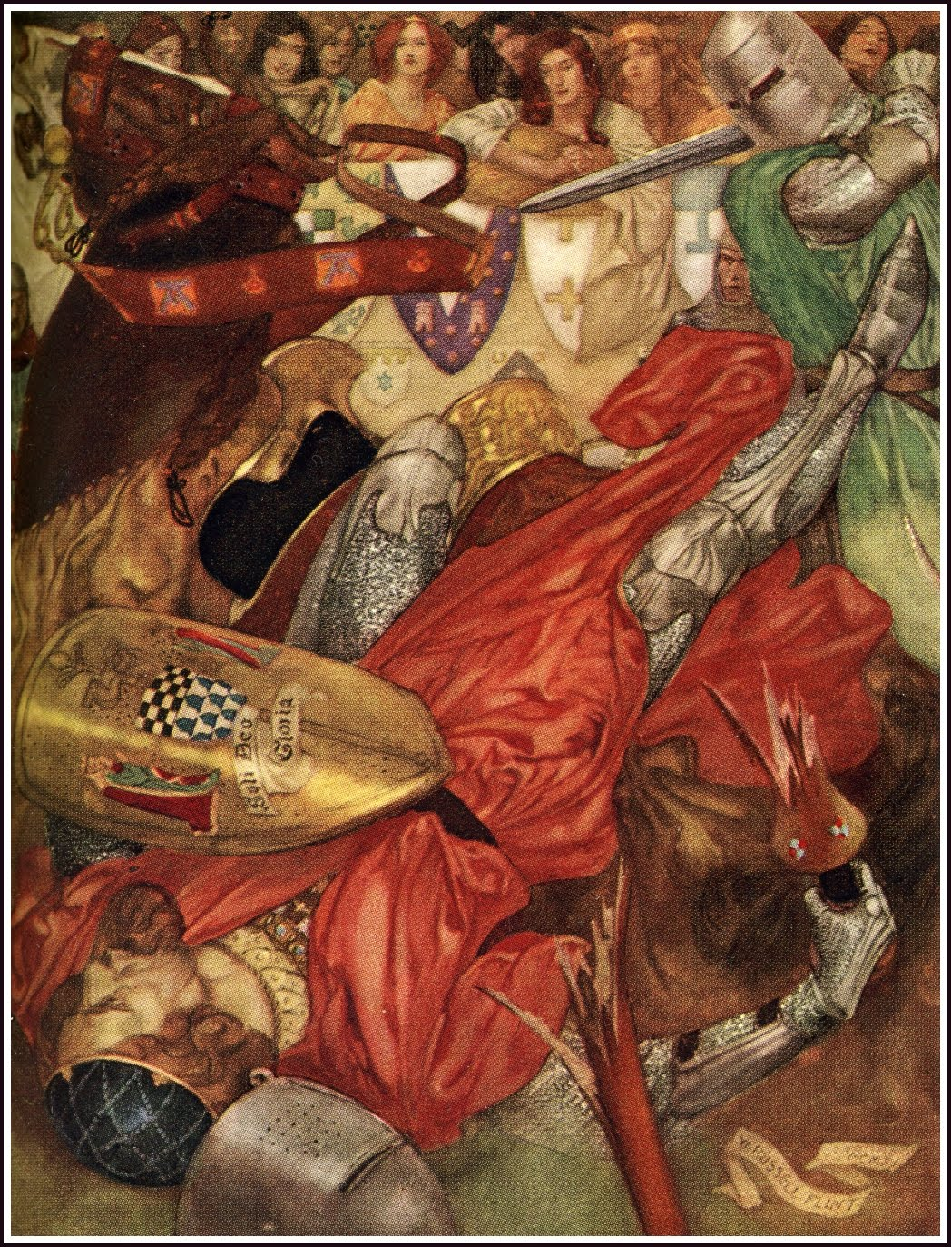 an analysis of the character king arthur by sir thomas malory and the comparison to beowulf