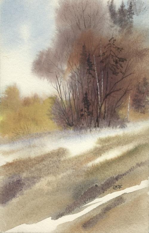Watercolor Landscapes (54 работ)