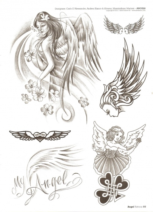 Tattoo - Sketchbook - 230 Angels (66 фото)