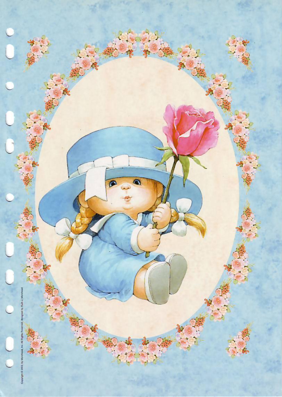 Нежная детская открытка с днем рождения