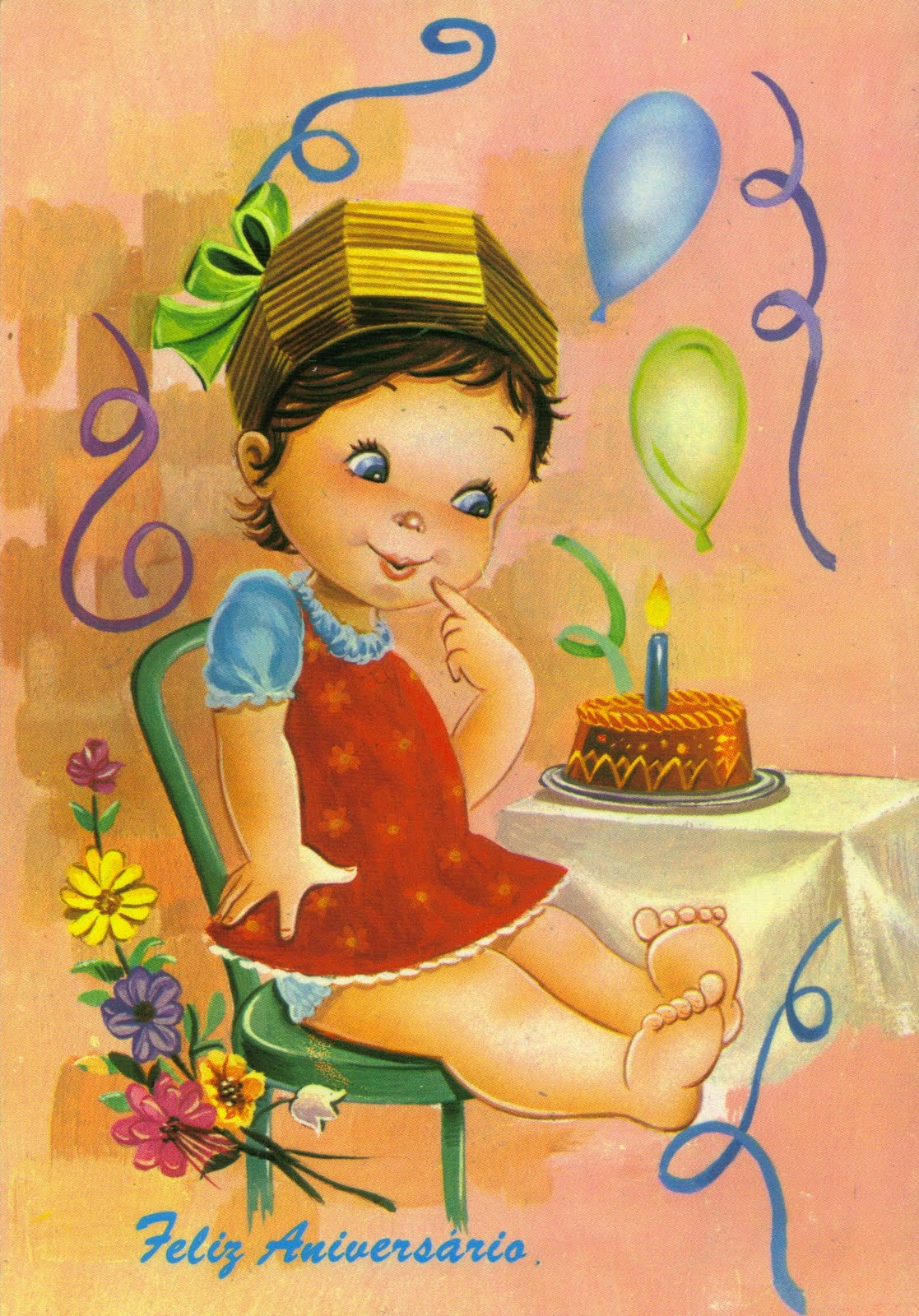 Открытки с днем рождения с ребенком
