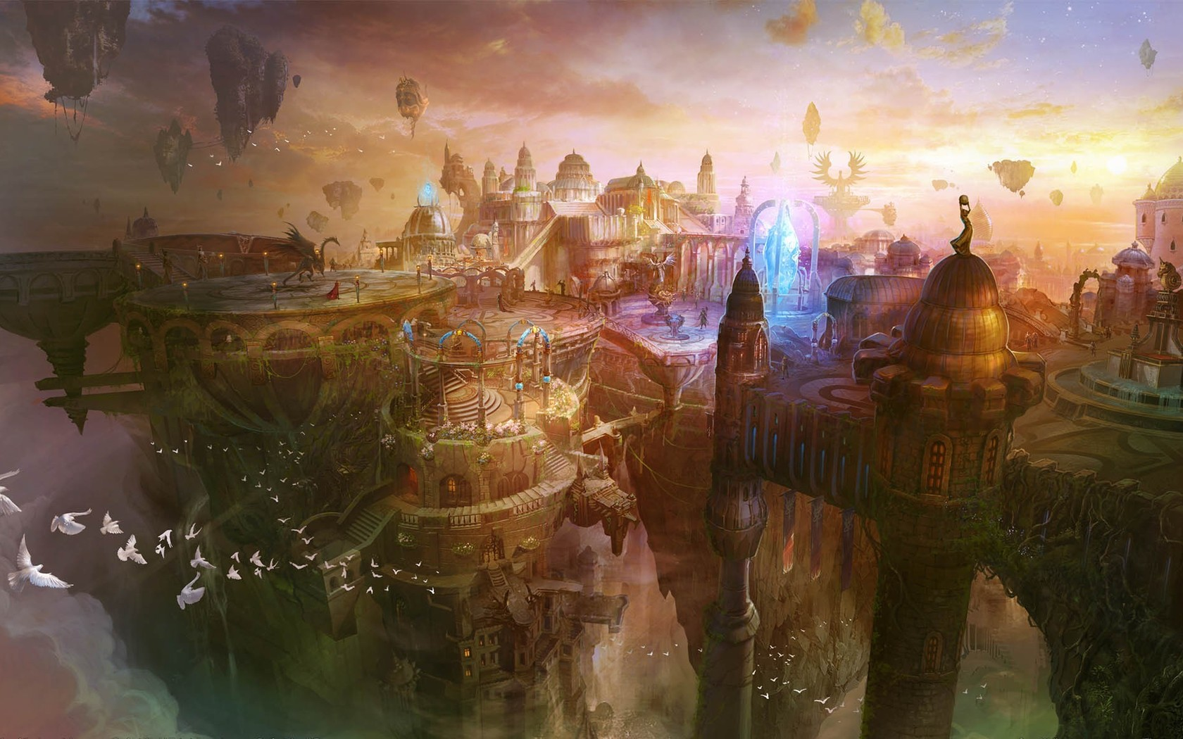 Ancient fantasy kingdom