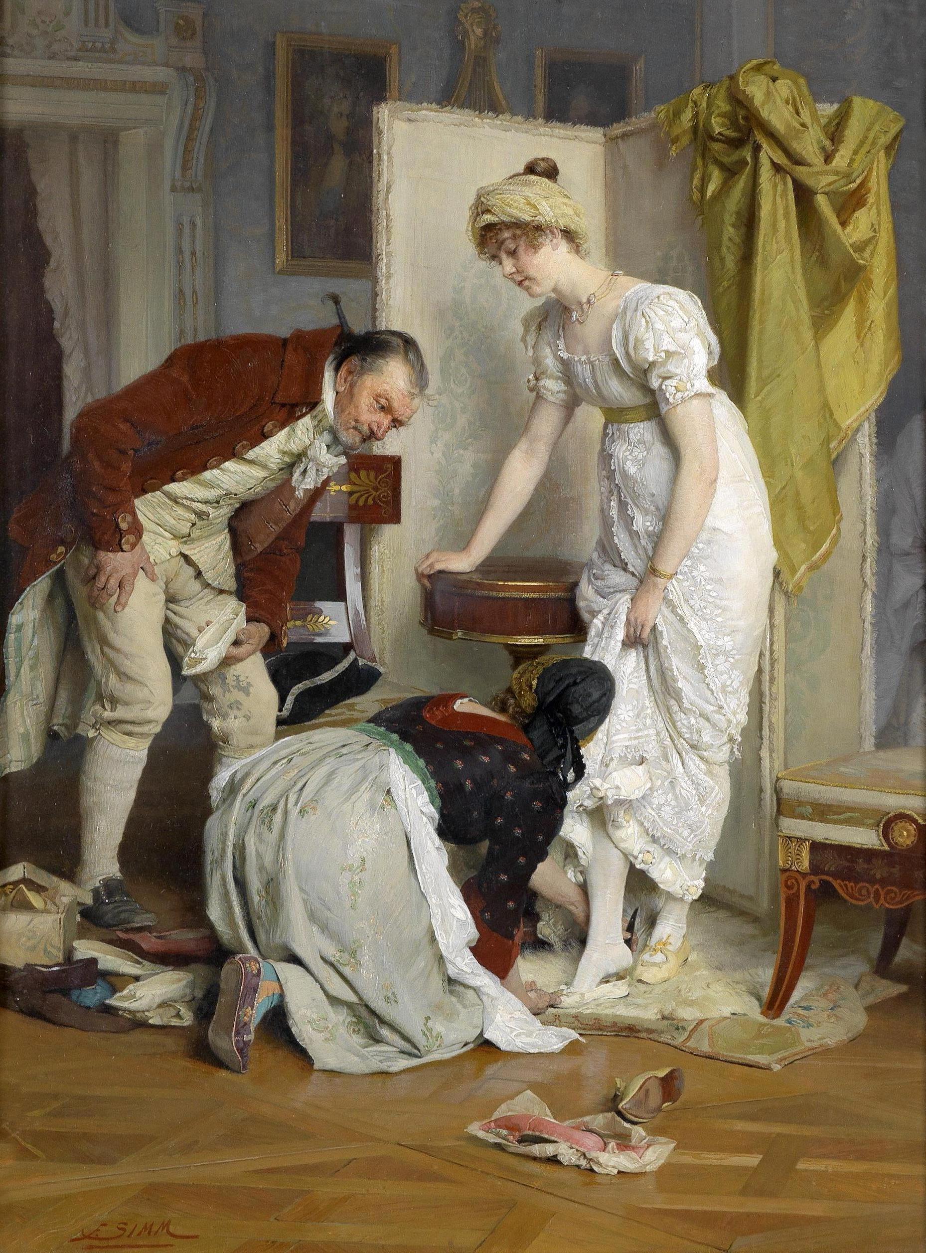 Австрийский художник Franz Xaver Simm 1853 1918 65