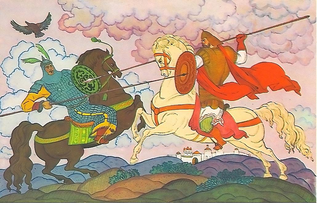 картинка русского богатыря в бою