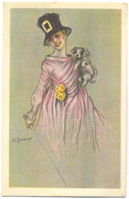 Image of woman on old postcard 3 | Женский образ на старой открытке 3 (175 открыток)