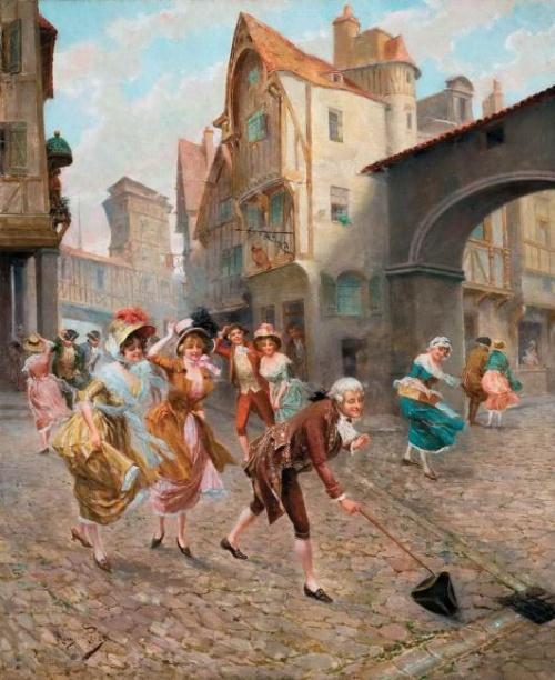 Испанский художник Mariano Alonso-Perez (1857-1930) (54 работ)