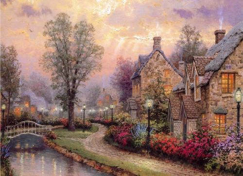 Картины в викторианском стиле Thomas Kinkade  (8 работ)