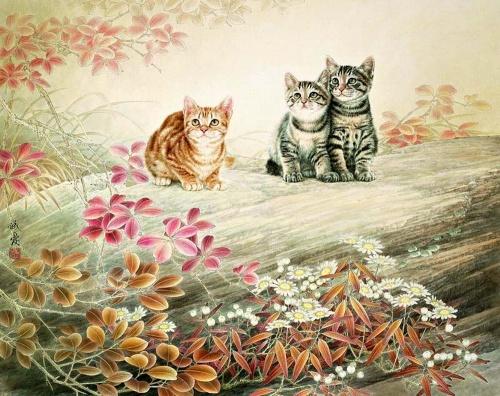 Коты из Поднебесной (48 работ)