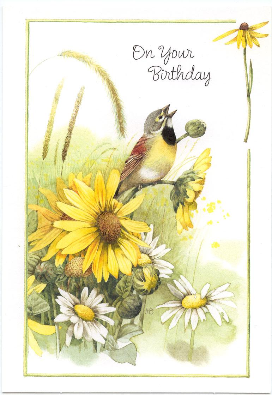 Птица на поздравительных открытках