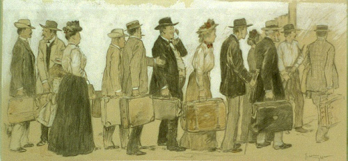 American painter, illustrator and printmaker George Hand Wright (1872-1951) (76 работ)