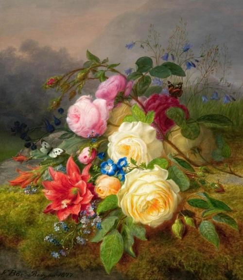 Норвежский художник Franz Didrik Boe (1820-1891) (24 работ)