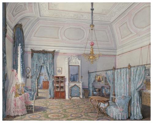 Интерьеры Зимнего дворца в картинах Эдуарда Петровича Гау (23 работ)