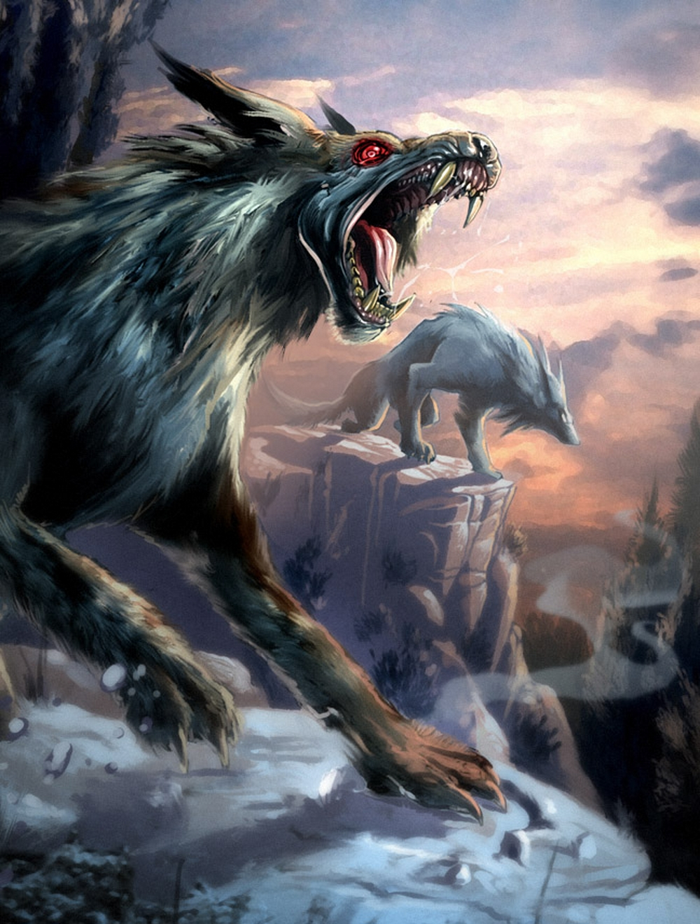 Злые волки картинки аниме 6