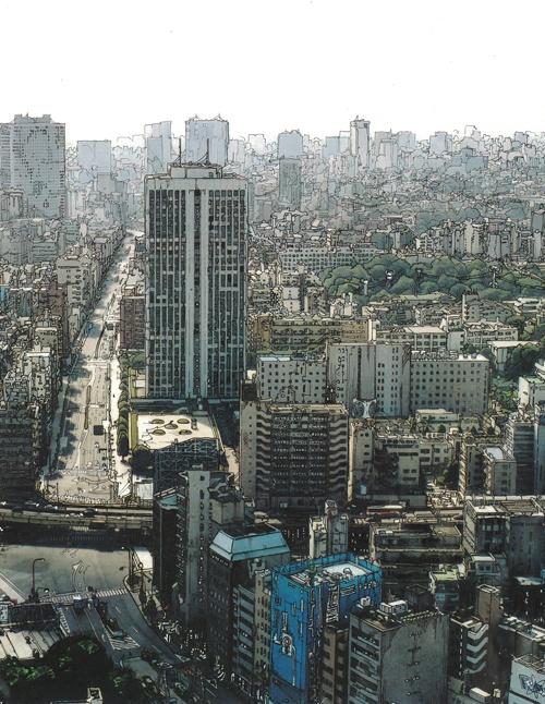 Урбанистический апокалипсис Марка Феррарио (Mandril) (97 работ)