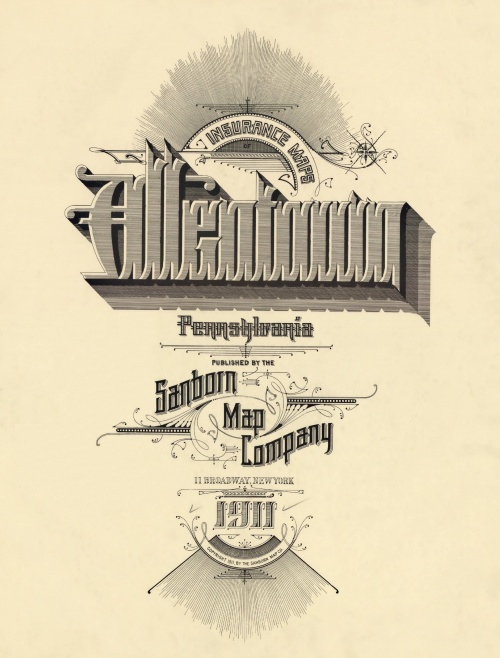 Заголовки к картам страховой компаний «Sanborn» (35 работ)
