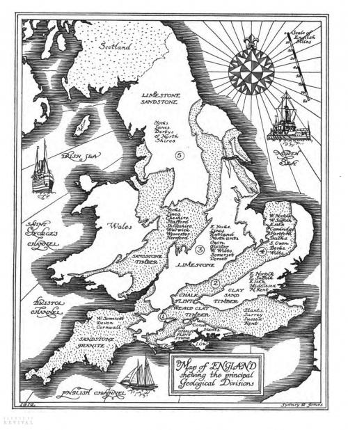 Английская деревня начала XX века. Зарисовки (49 работ)