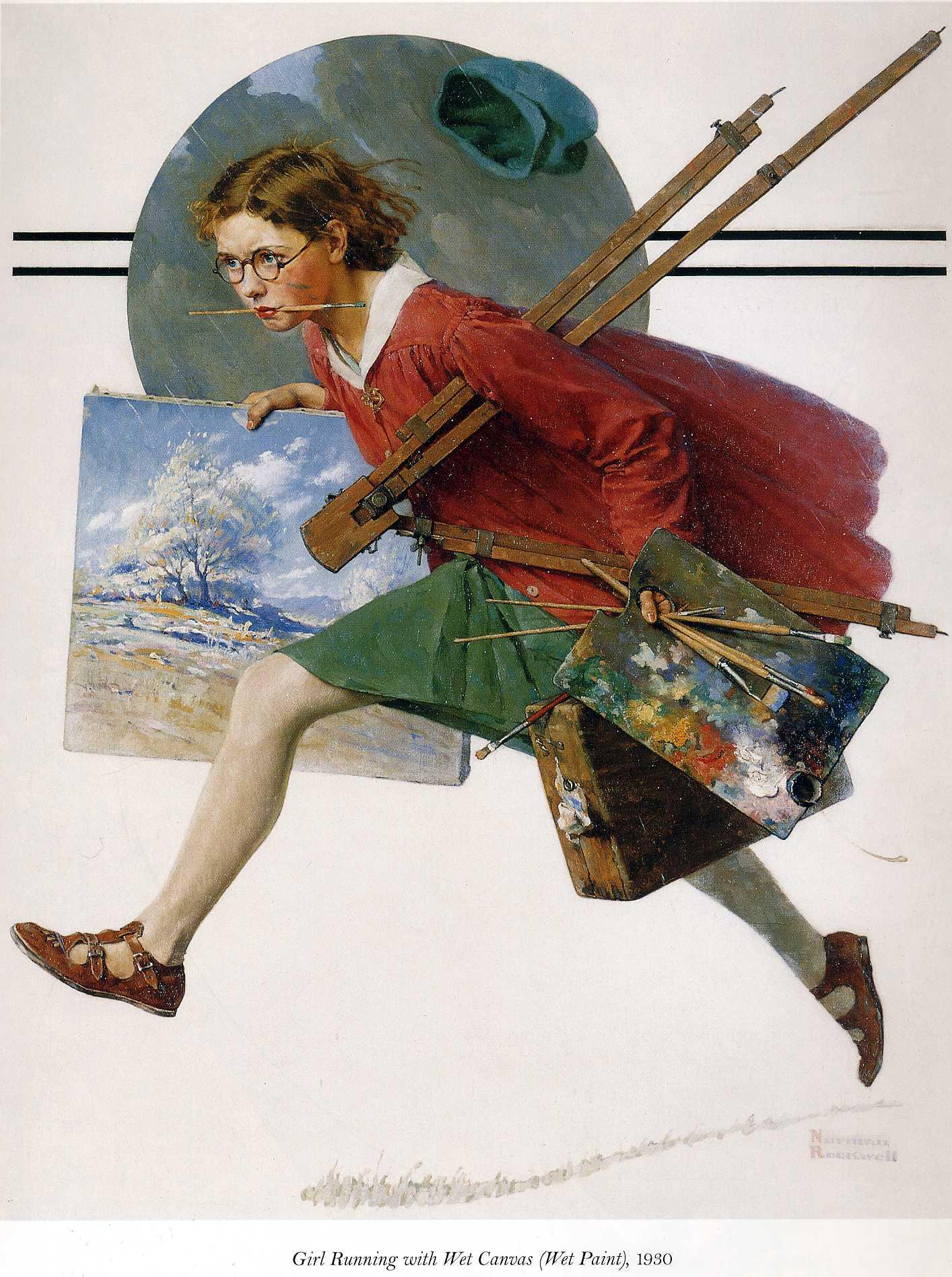 На чем художники рисуют открытки 795