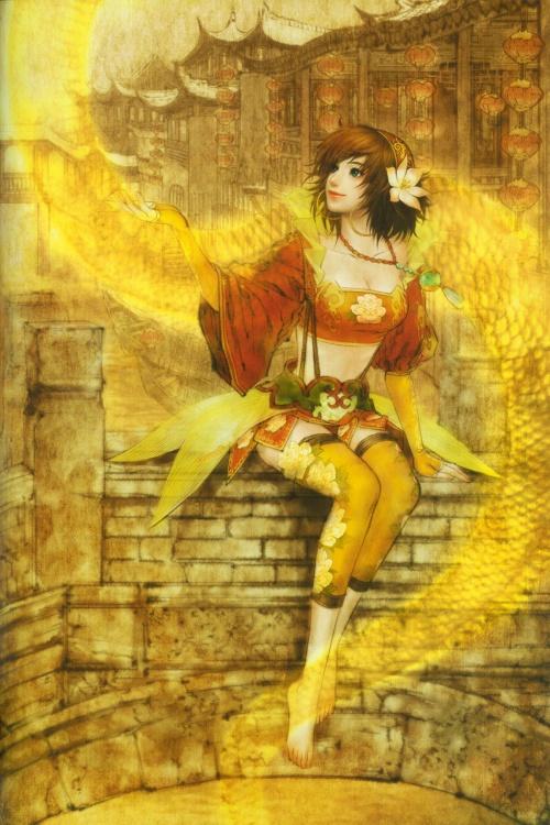 Shin Sangoku Musou 5 Illustration Art Book (90 работ)