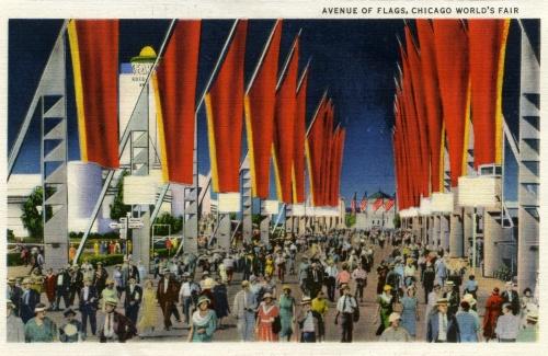 """Набор открыток """"Souvenir of Chicago World's Fair"""" (1934 год) (11 работ)"""