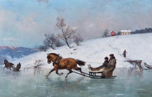 Норвежский художник Axel Ender (1853-1920) (45 работ)