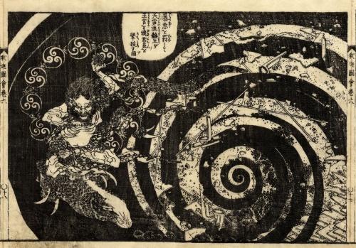 Репродукции гравюр и рисунков Кацусика Хокусай (143 работ) (2 часть)