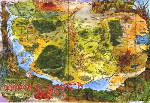 Maps of Middle Earth (16 работ)