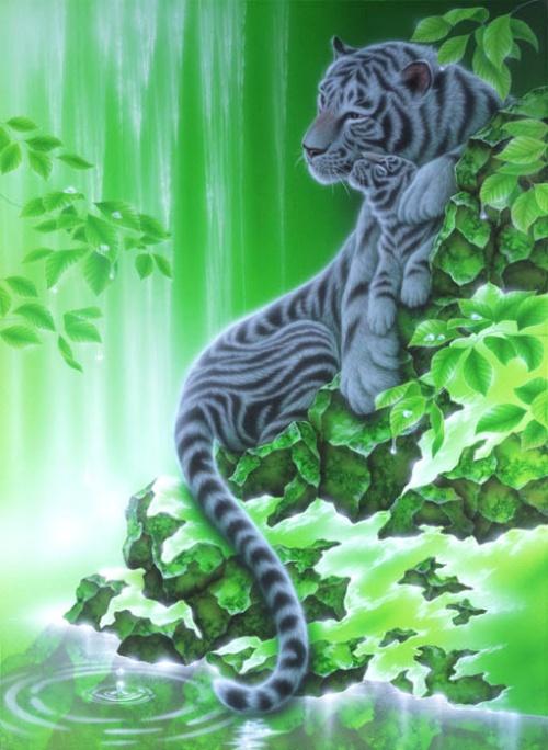 Картины японского художника Kentaro Nishino (101 работ)