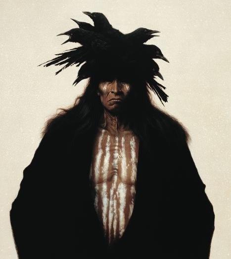 Индейцы на картинах Kirby Sattler (30 работ)