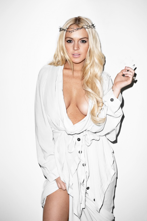 Lindsay Lohan by Terry Richardson for Purple Magazine (28 фото) (эротика)
