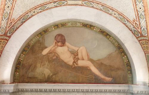 Фрески Библиотеки Конгресса США. Часть 6. Henry Oliver Walker (1843-1929) (8 работ)