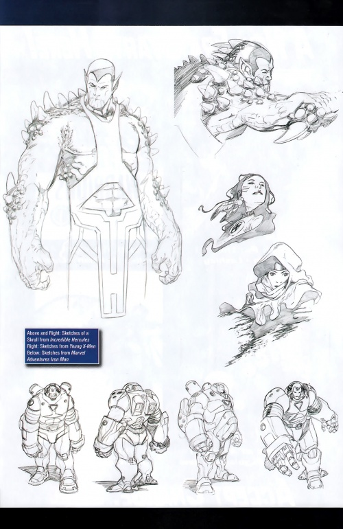 Marvel Sketchbook - Young Guns 2009 (34 работ)