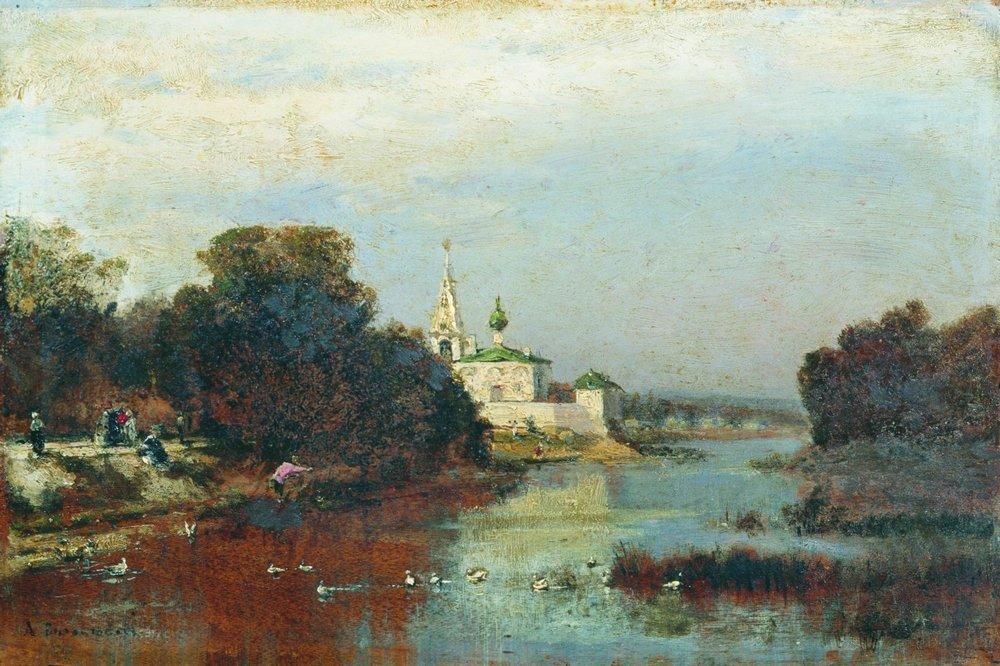 Картины художников монастырь фото