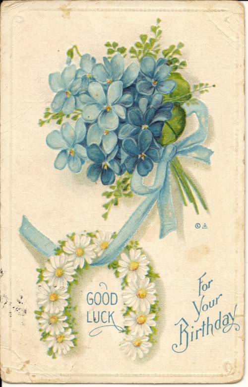 Винтажная открытка с юбилеем 8