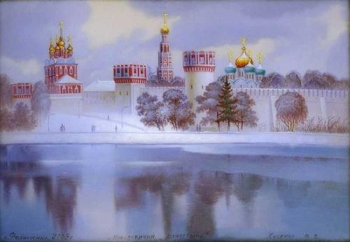 Федоскинская миниатюра. Купола России (34 работ)