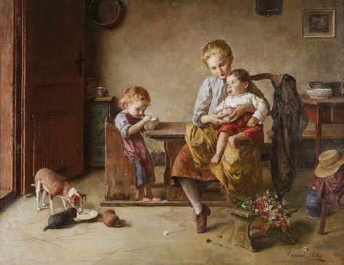 Австрийский художник Edmund Adler (1876-1965) (65 работ)