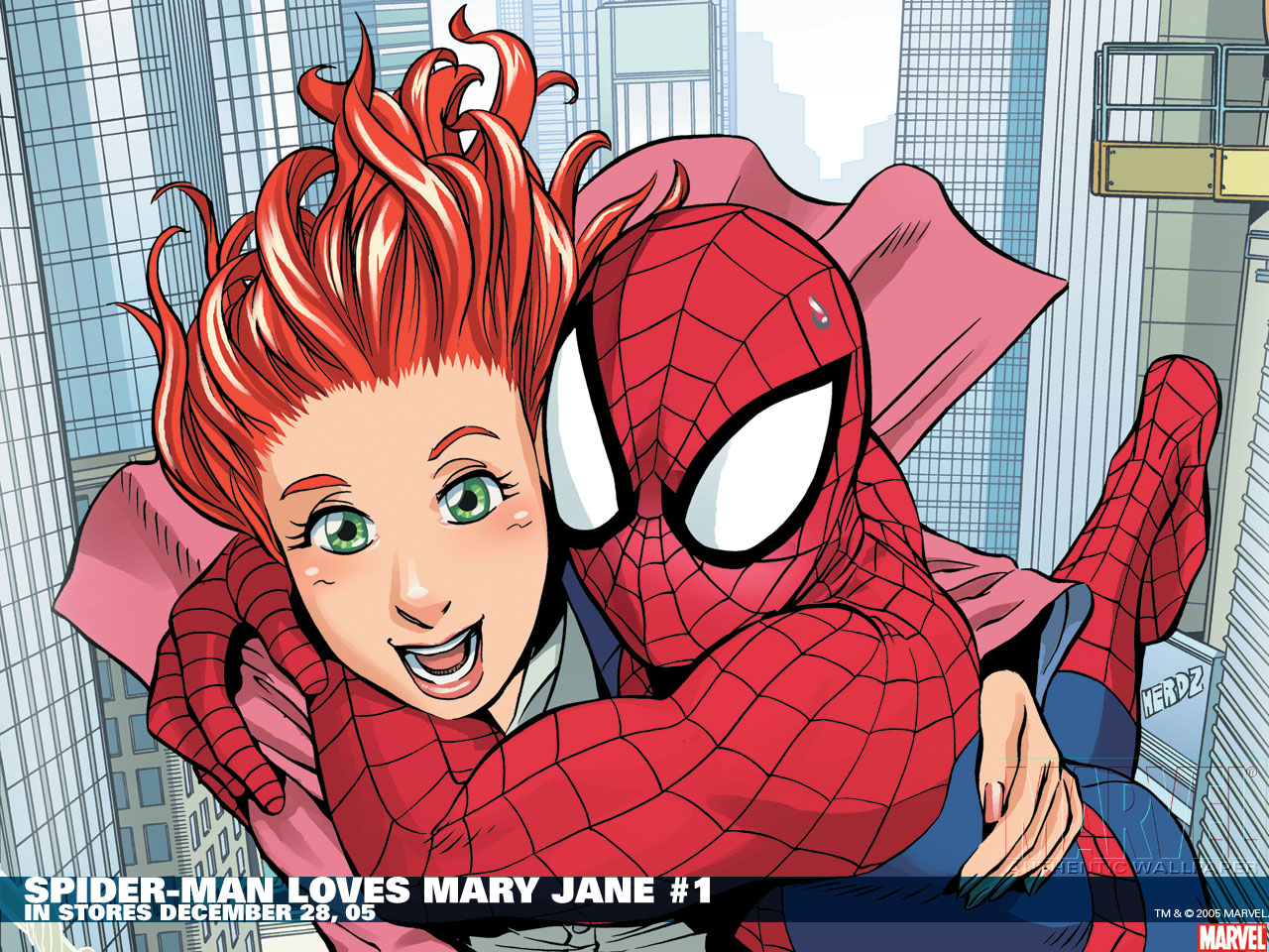Spiderman mary jane comic marvel