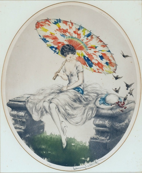Рисунки девушек в иллюстрациях Louis Icart (164 работ) (2 часть)