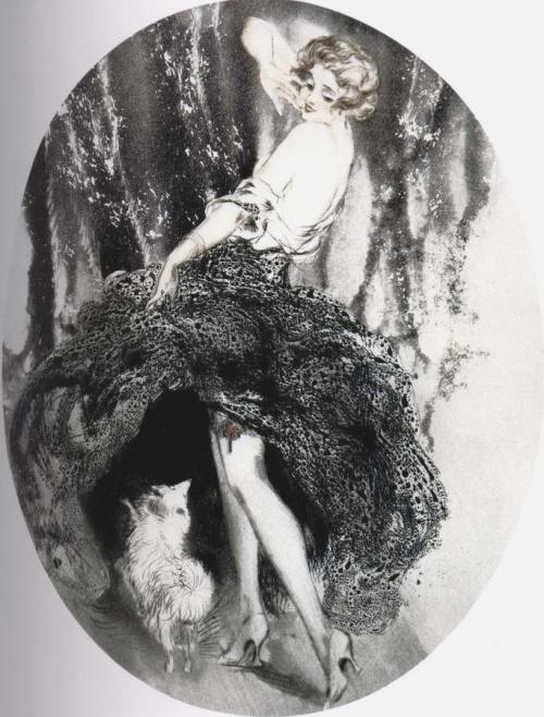 Рисунки девушек в иллюстрациях Louis Icart (132 работ) (1 часть)