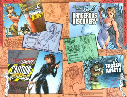 J.Scott Cambell - Danger Girl Sketchbook (37 работ)