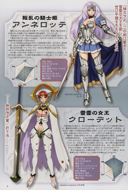 Queen's Blade Rebellion Beautiful Fighter Senki (26 работ)