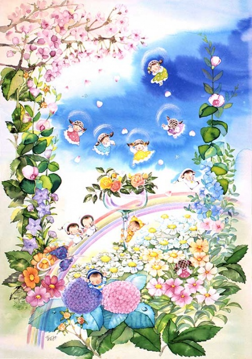 Японский художник Mayumi Sawada (37 работ)