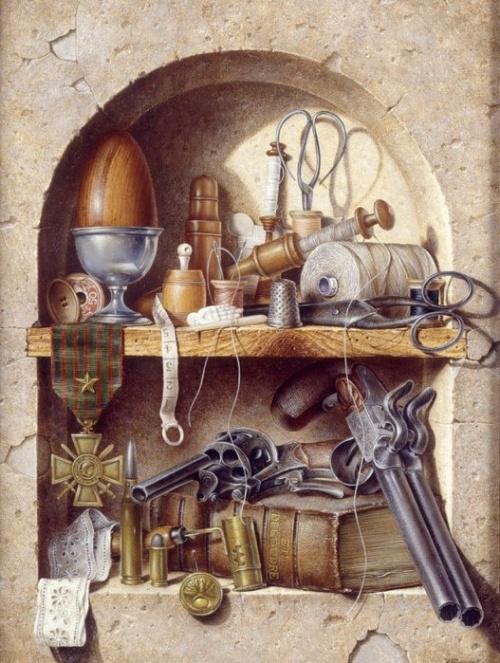 Натюрморты и экспозиции - работы художников (31 работ)