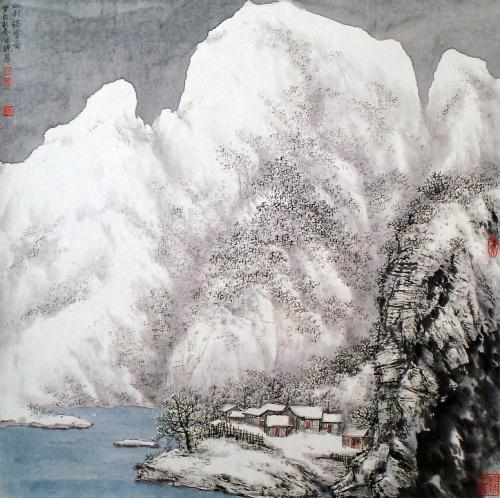 Китайский художник Sun Ri Xiao (161 работ)