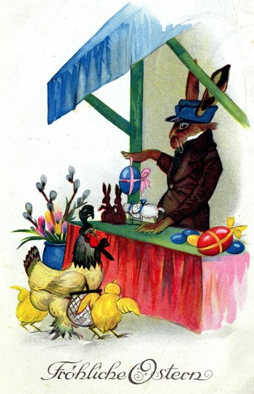 Easter card 1st half of the twentieth century  Пасхальная открытка 1-ой половины ХХ века (59 работ)